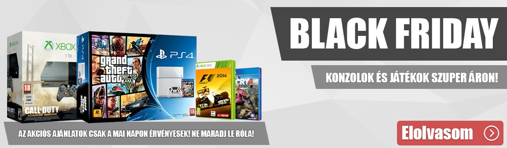 Brutális akciók, idén is tarol a Black Friday!